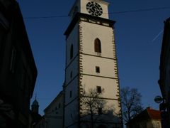 City tower from the bottom by <b>MBagyinszky</b> ( a Panoramio image )