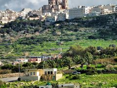 The Sanctuary of Our Lady of Mellieha by <b>Mario Mizzi</b> ( a Panoramio image )