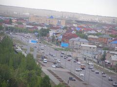 Восточное окончание проспекта Мамыш-улы / View of the east - Pro by <b>Сергей Алесковский</b> ( a Panoramio image )