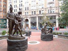 Boston - Irish Famine Memorial by Robert Shure by <b>Chinappi</b> ( a Panoramio image )