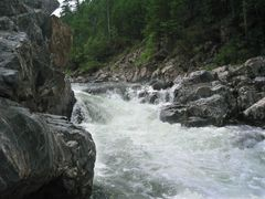 Small waterfall on Ingoda river, Небольшой водопад на Ингоде by <b>wirage</b> ( a Panoramio image )