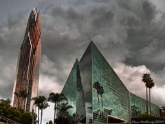 Crystal Cathedral in the Storm by <b>Elena Omelchenko</b> ( a Panoramio image )