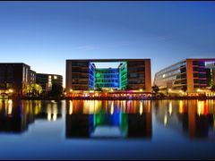 Cafe Cubar -       Urban Colours - Duisburg - Germany - Blue Hou by <b>Stathis Chionidis</b> ( a Panoramio image )