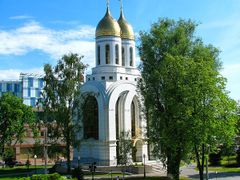 Temple of St. Peter and Fevrony by <b>Тилигузов Сергей</b> ( a Panoramio image )