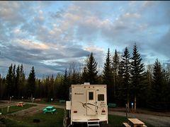 Sonnenaufgang, Dave`s RV Park, Vanderhoff 16.5.2011, 5:36  ... C by <b>americatramp.the2nd</b> ( a Panoramio image )