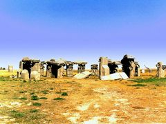 CARHENGE. The American version of British STONEHENGE. (See added by <b>flyingdutchman</b> ( a Panoramio image )