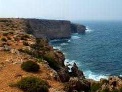 "Coastal cliffs from il-Ponta ta"" l-Ahrax to Rdum il-Hmar by <b>Mario Mizzi</b> ( a Panoramio image )"