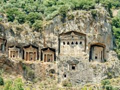 Lycian Rock Tombs, Dalyan.  by <b>keefyboy</b> ( a Panoramio image )
