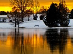 < Honorable mention Heritage June 2011 > Golden Sunrise with Ice by <b>Kalin Ranchev</b> ( a Panoramio image )