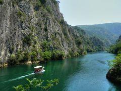 Кон Пештерата Врело на Матка најдлабока во Европа?!-Lake Matka by <b>b.onosimoski</b> ( a Panoramio image )