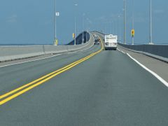Confederation Bridge, { between New Bruswick & P.E.I. } by <b>sandra Husk</b> ( a Panoramio image )