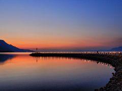 Luces de un nuevo dia, malecon de Jocotepec. Lago de Chapala 201 by <b>galfer</b> ( a Panoramio image )
