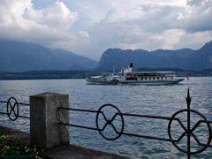 "Steamboat  ""Blumlisalp""  leaving  the pier of Oberhofen        by <b>kurt.fotosuisse</b> ( a Panoramio image )"