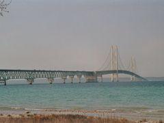Michigan / Mackinaw-City Bridge by <b>Alfred Mueller</b> ( a Panoramio image )