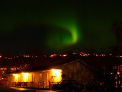 northern light in Alesund from Volsdalen camping by <b>bReo</b> ( a Panoramio image )