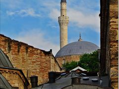 "Mustafa pasha""s mosque from Old Bazaar - Mustafa Pasa Camii, Usk by <b>Ahmet Bekir</b> ( a Panoramio image )"