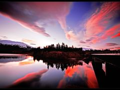 Fiery Sunset Bannockburn by <b>Kelvin Reid</b> ( a Panoramio image )