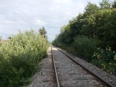 Railway at border of Tallinn and Viimsi by <b>Aulo Aasmaa</b> ( a Panoramio image )