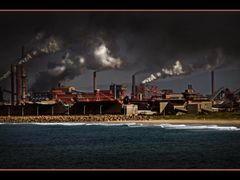 Port Kembla Steelworks; Global warming is the continuing rise in by <b>PHOTO.K.C</b> ( a Panoramio image )