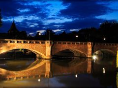 Maxbrucke Nurnberg • Blue Hour (2) • July 2011 by <b>digipic</b> ( a Panoramio image )