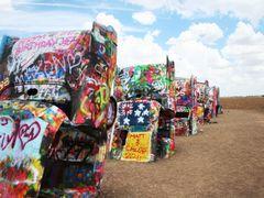 Cadillac Ranch by <b>Eric Ascalon</b> ( a Panoramio image )
