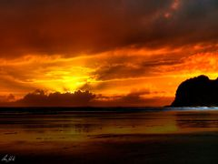 Bethels Beach Sunset by <b>Chris White NZ</b> ( a Panoramio image )