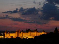 Carcassonne: The darker it gets, the more its beauty is enlighte by <b>BertKg</b> ( a Panoramio image )