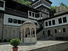 The courtyard of Monastery St. Jonh Bigorski by <b>tachi_xt</b> ( a Panoramio image )
