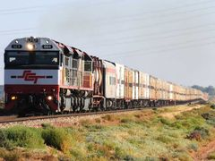 Westbound SCT approaching Port Augusta by <b>RodWilliams</b> ( a Panoramio image )