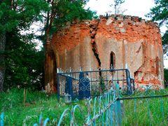 Капліца-ратонда на могілках у вёсцы Бартнікі. by <b>AlexOct</b> ( a Panoramio image )