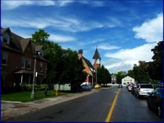 Church (1879) on Unionville (Est. in 1794) Main Street,  minutes by <b>Tomros</b> ( a Panoramio image )