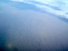 Uzbekistan desert seen from the sky by <b>© SisAnnick</b> ( a Panoramio image )