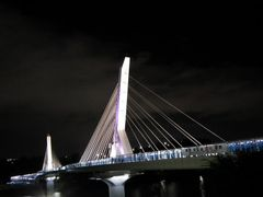 Nocturnal of the new bridge by <b>peacemaker453354 (No Views)</b> ( a Panoramio image )