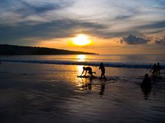 Sunset of the beach Jimbaran, Bali ¦ by pilago by <b>pilago</b> ( a Panoramio image )