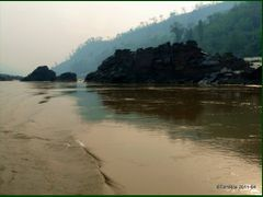 Mekong River from Slow boat on the way to Luang Prabang by <b>Tomros</b> ( a Panoramio image )
