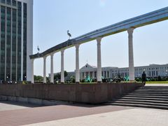 Mustaqillik Maydoni, Independence Square in Tashkent, Uzbekistan by <b>Nicola e Pina Uzbekistan 2011</b> ( a Panoramio image )