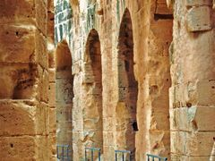 Corridor of the Amphitheatre, El-Jem, Tunisia by <b>Hamed Ansari</b> ( a Panoramio image )