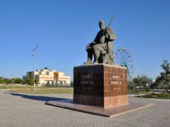 The Savitsky Karakalpakstan Art Museum  and the Monument of Ajin by <b>Nicola e Pina Uzbekistan 2011</b> ( a Panoramio image )