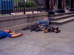 Homeless on Jackson Square. by <b>Michal Flisiuk</b> ( a Panoramio image )