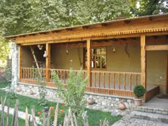 Typical Tajik house. Botanical garden, Dushanbe. by <b>Parviz.Tj</b> ( a Panoramio image )