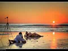 Sunset at La Jolla, California, near Scripps Pier by <b>Elena Omelchenko</b> ( a Panoramio image )