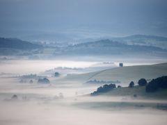 fog over the village Zlaty Potok by <b>karel146146</b> ( a Panoramio image )