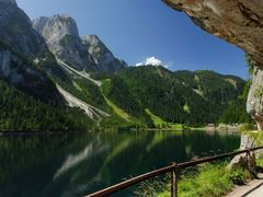 Moon over Gosausee  by <b>Karel H.</b> ( a Panoramio image )