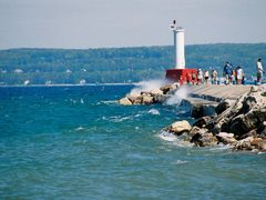 Petoskey Peir from the beach by <b>may1cl</b> ( a Panoramio image )