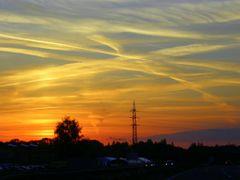 Zapad slunce z Rudne v Ostrave-Vitkovicich (Sunset from Rudna in by <b>MAPP HUDRANS</b> ( a Panoramio image )