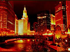 BEAUTI NIGHT  at CHICAGO-- by Wladzia Zawierta- contest by <b>Wladyslawa Zawierta</b> ( a Panoramio image )