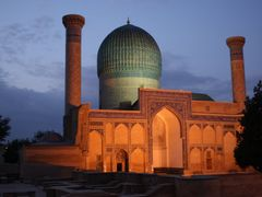 The Gur-e Amir mausoleum, Tamerlan. by <b>afrocan</b> ( a Panoramio image )
