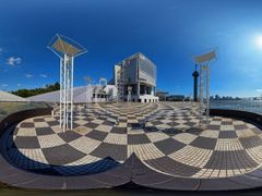 Full 360° Panorama at Harumi Passenger Boat Terminal ?(See My Fi by <b>SEIMA</b> ( a Panoramio image )