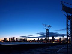Panorama view of Tokyo Bay Area from Harumi Wharf at Twilight by <b>SEIMA</b> ( a Panoramio image )