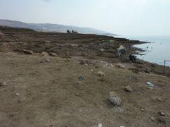 """Les plages sauvages de la Mer Morte avec les marques d""""abaisseme by <b>David Vaucher</b> ( a Panoramio image )"""